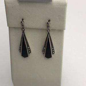 Onyx Deco Earrings